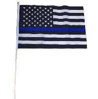 "12""x18"" Stick Flag [Blue Lives Matter]"